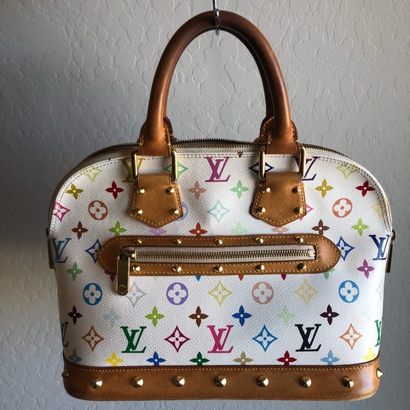 fe13575bd76 Authentic Louis Vuitton Alma Multicolor White
